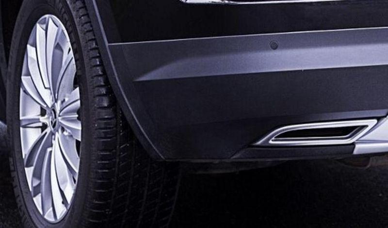 Imitácia koncovky výfuku, Škoda Kodiaq, 2016->, ABS - Alu Brusch