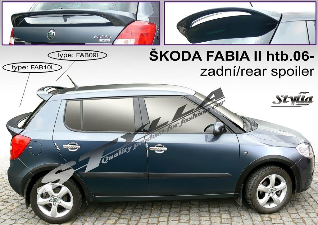 Spoiler zadných dverí horný, Škoda Fabia II, 2007-2014