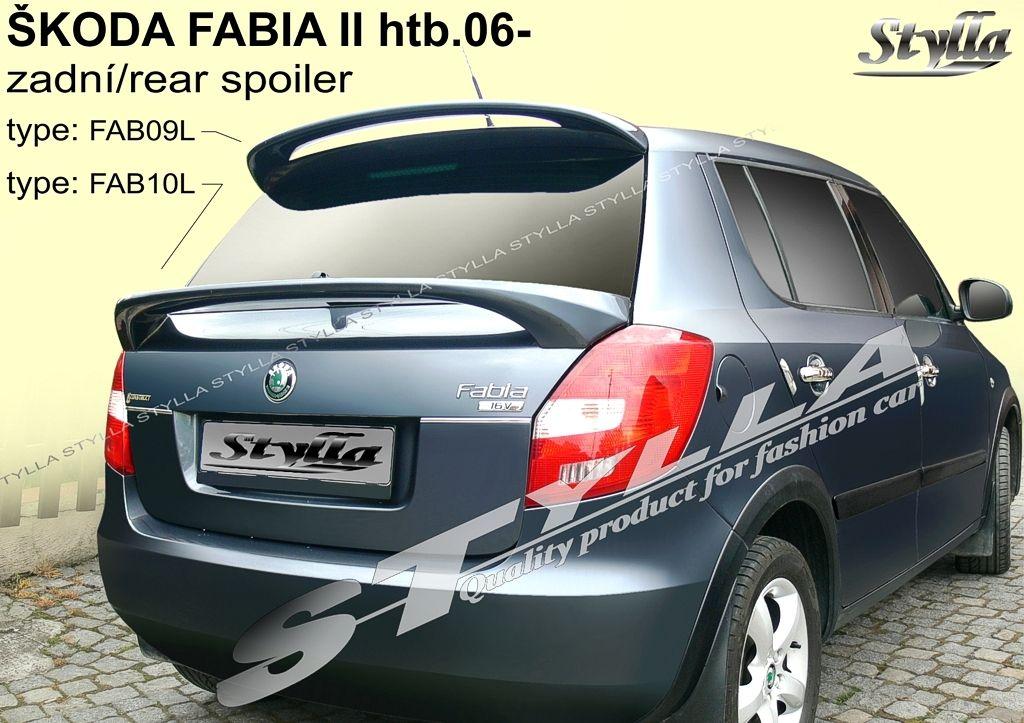 Spoiler zadných dverí spodný, Škoda Fabia II, 2007-2014