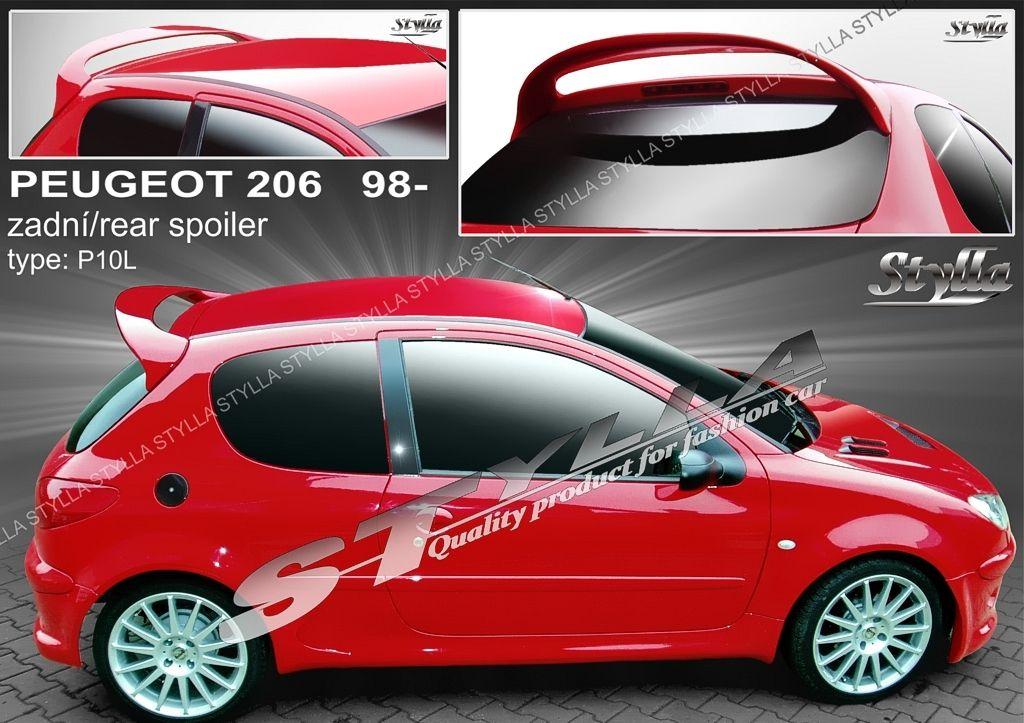 Spoiler zadných dverí horný, Peugeot 206, 2009-2012