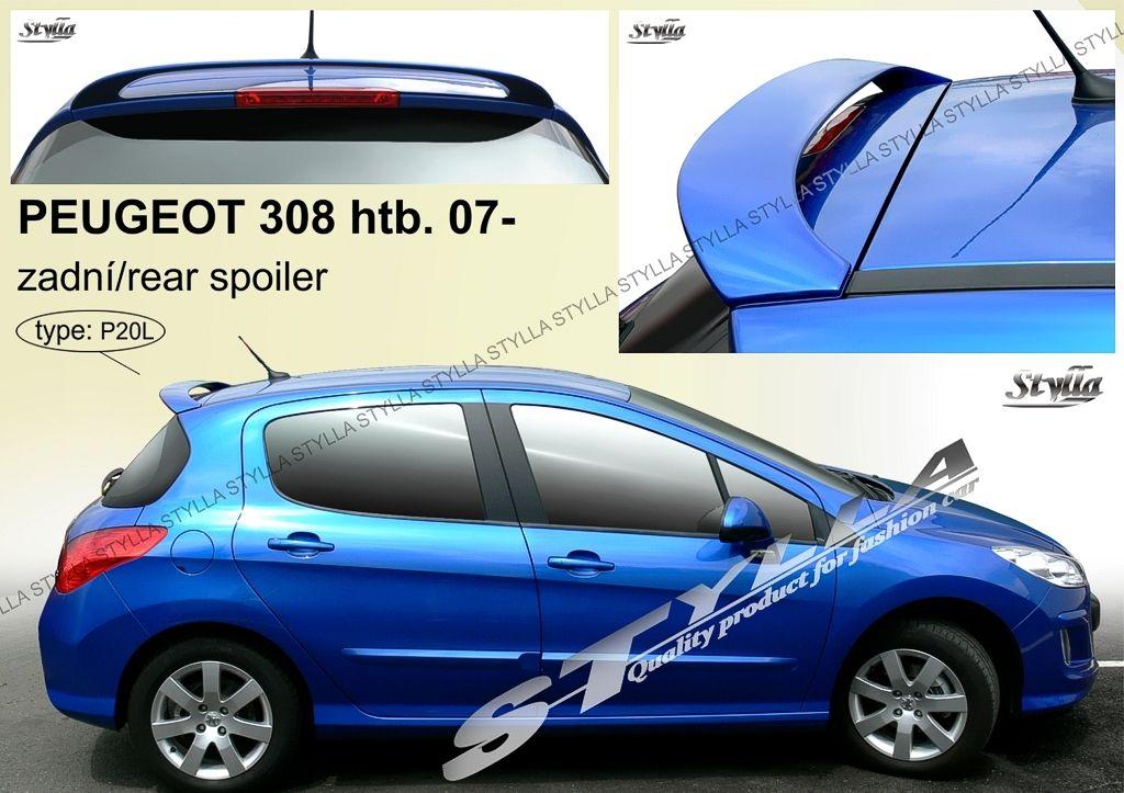 Spoiler zadných dverí horný, Peugeot 308 I, 2007-2013