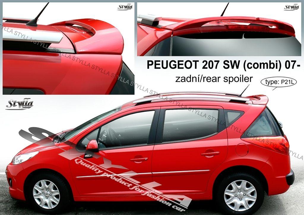 Spoiler zadných dverí horný, Peugeot 207 SW, 2007-2012