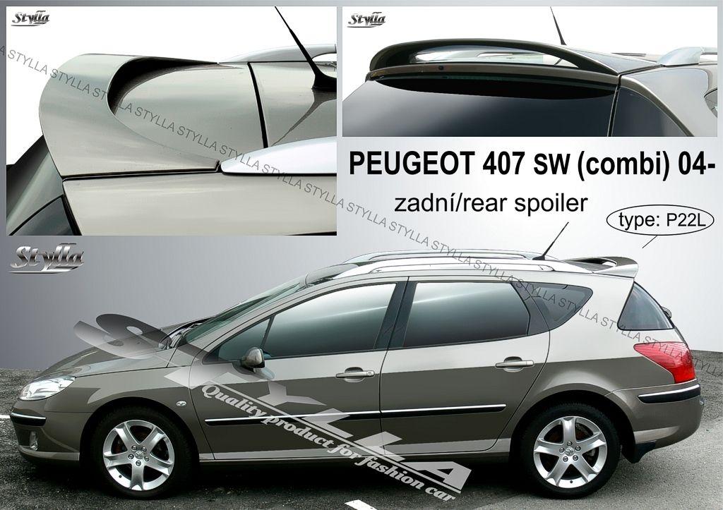 Spoiler zadných dverí horný, Peugeot 407 SW, 2004-2011