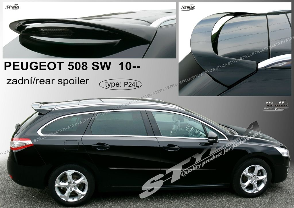 Spoiler zadných dverí horný, Peugeot 508 SW, 2010-