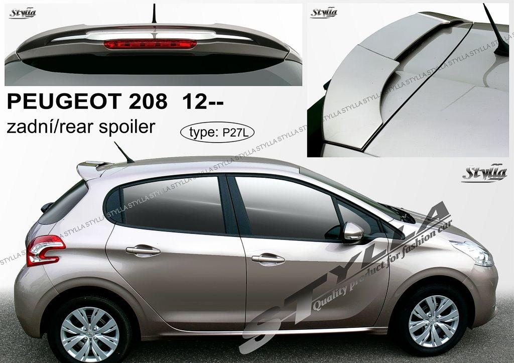 Spoiler zadných dverí horný, Peugeot 208, 2012-2019