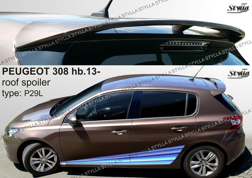 Spoiler zadných dverí horný, Peugeot 308 II, 2013-