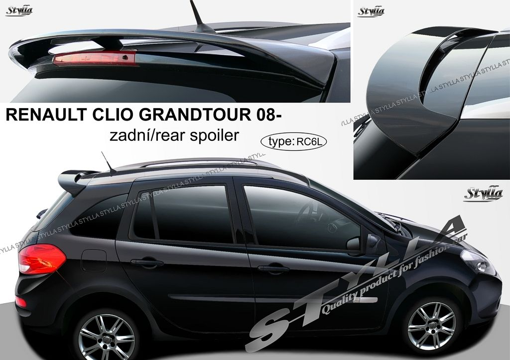 Spoiler zadných dverí horný, Renault Clio III, 2008-2012