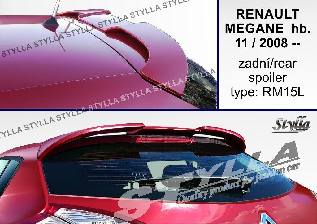 Spoiler zadných dverí horný, Renault Megane III, 2008-2016