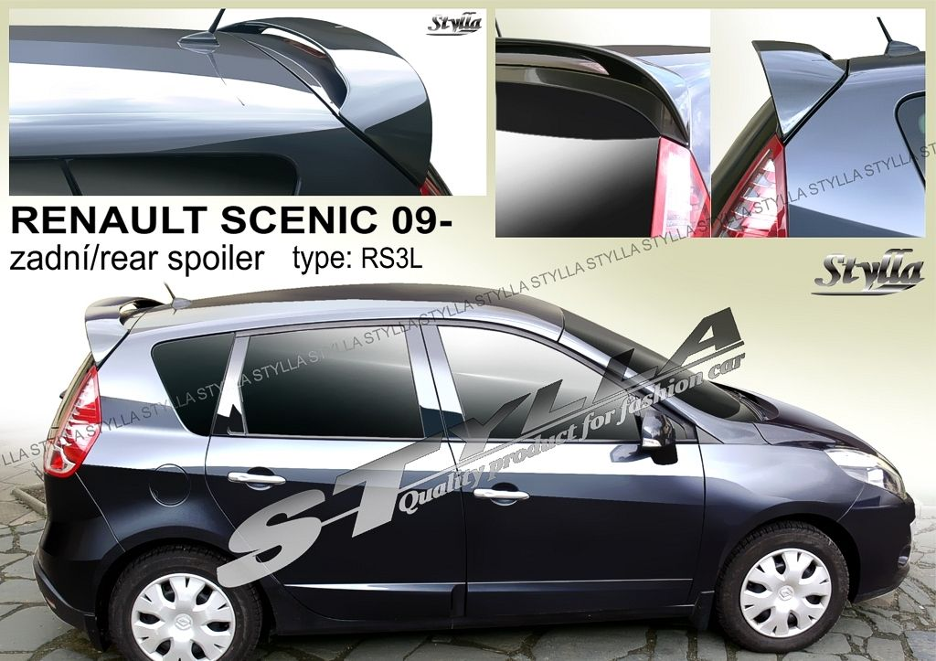 Spoiler zadných dverí horný, Renault Scenic III, 2009-2016