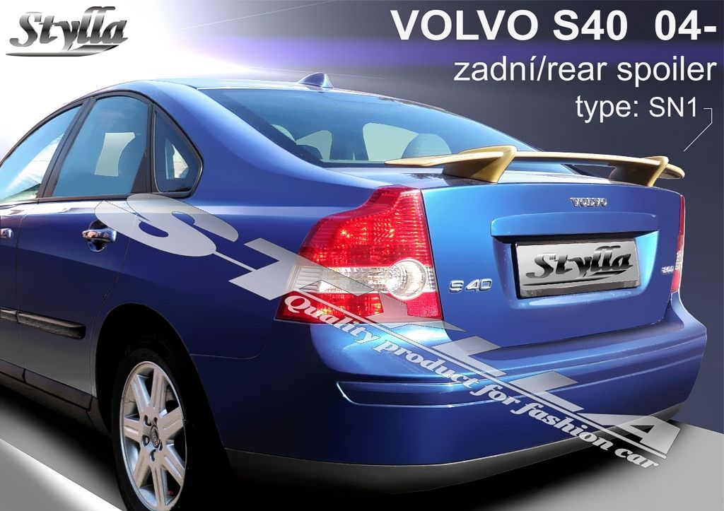 Spoiler na kapotu, Volvo S40 II, 2004-2012