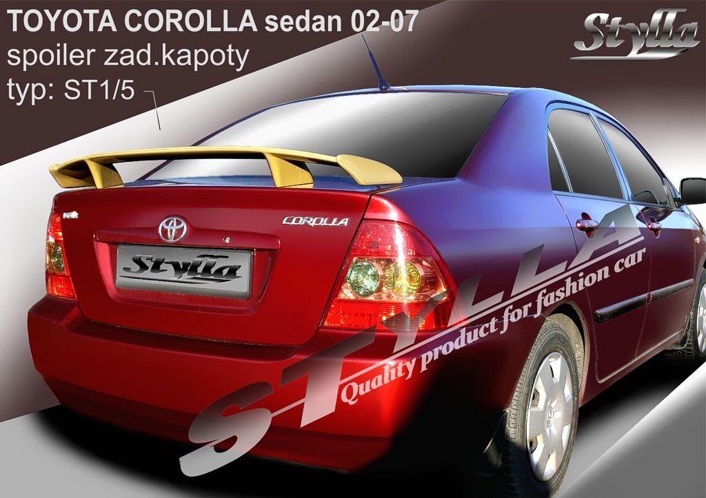 Spoiler na kapotu, Toyota Corolla IX, 2002-2007