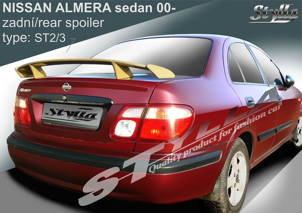 Spoiler na kapotu, Nissan Almera, 2000-2006