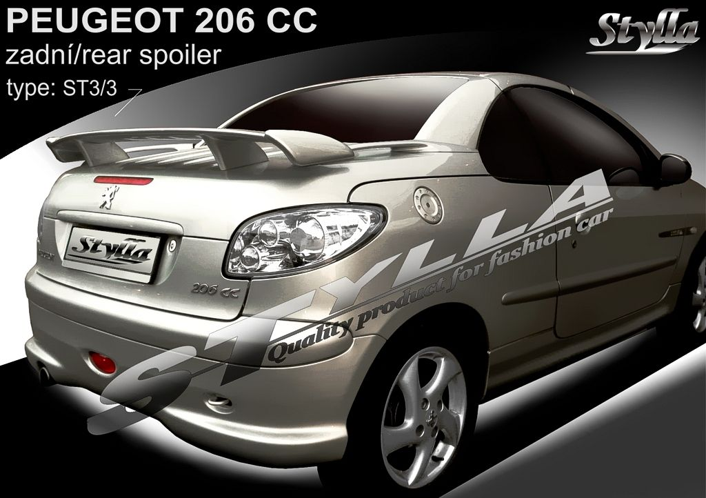 Spoiler na kapotu, Peugeot 206 CC, 2000-2012