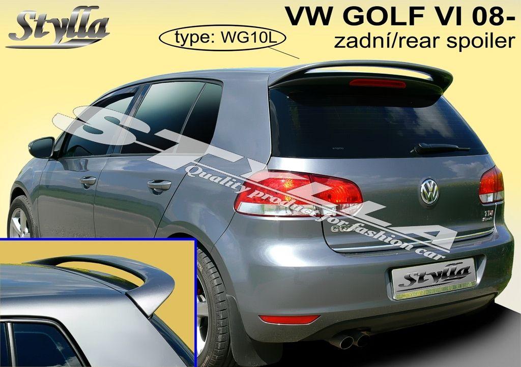 Spoiler zadných dverí horný, VW Golf VI, 2008-2012