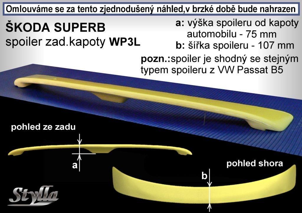 Spoiler na kapotu, Škoda Superb I, 2001-2008