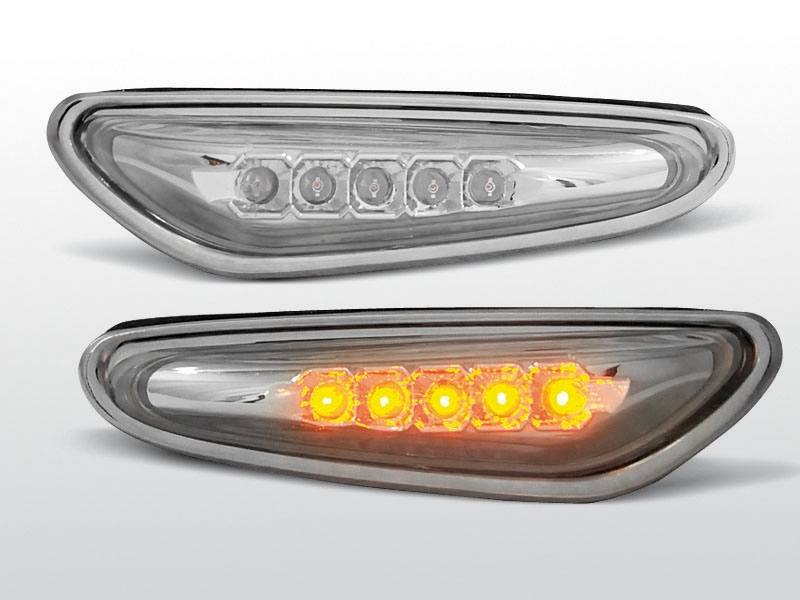 Smerovky bočné, BMW E46, 2001-2005, CHROM LED