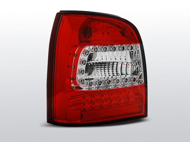 Zadné svetlá diódové, AUDI A4, 1994-2001, AVANT ČERVENÁ BIELY LED