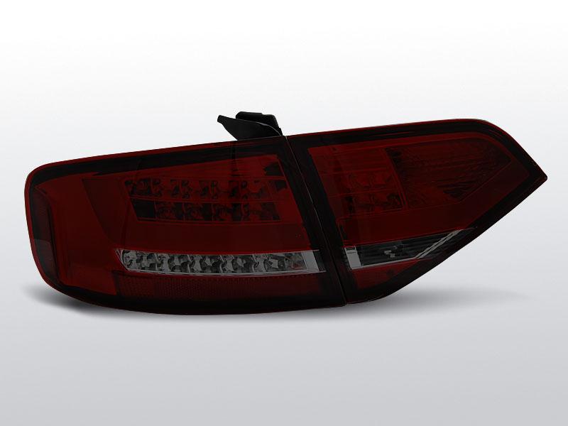 Zadné svetlá diódové, AUDI A4 B8, 2008-2011, SEDAN ČERVENÁ SMOKE LED
