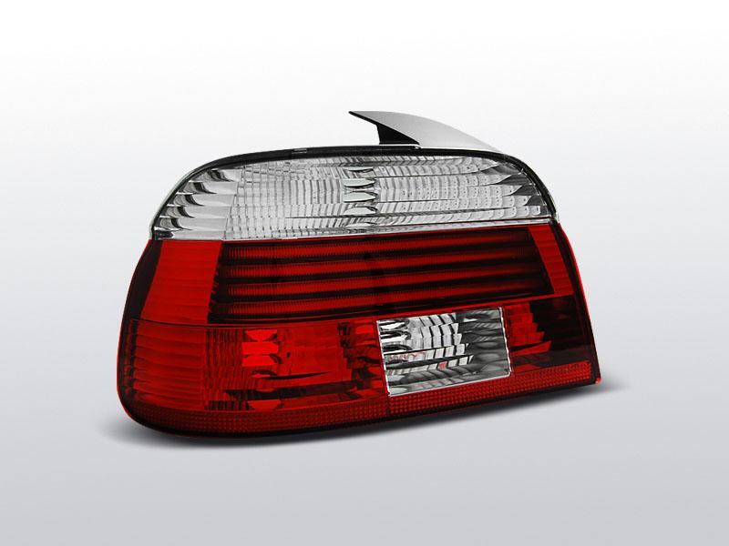 Zadné svetlá diódové, BMW E39, 2000-2003, ČERVENÁ BIELY