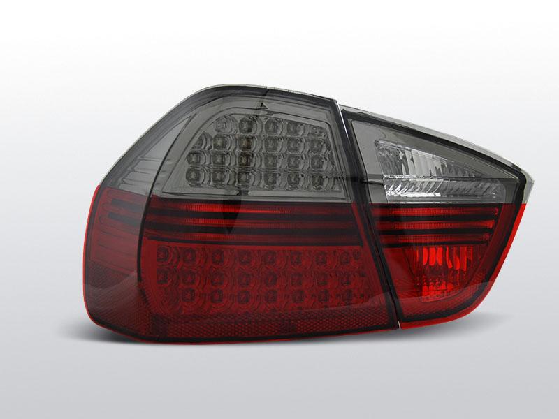 Zadné svetlá diódové, BMW E90, 2005-2008, ČERVENÁ SMOKE LED INDIC.