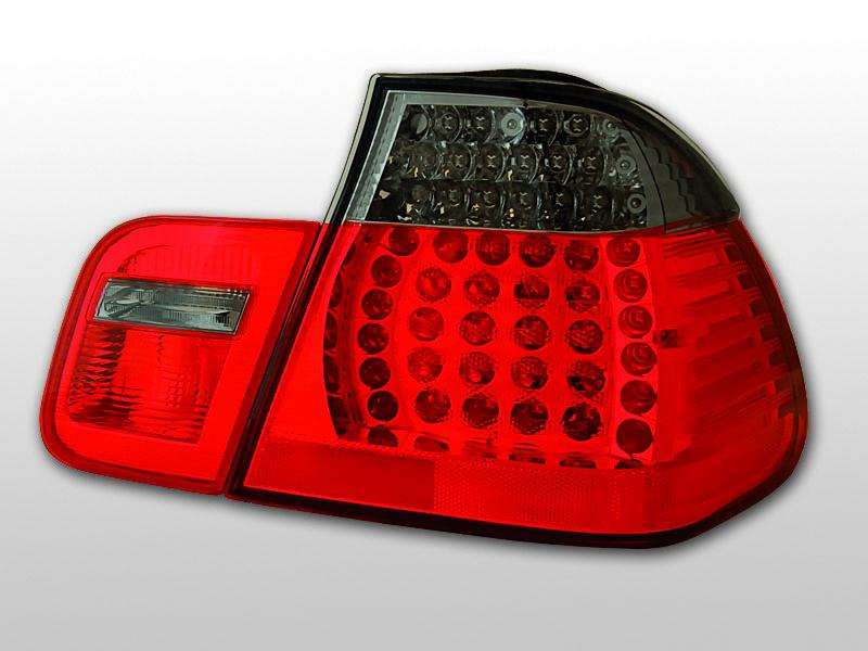 Zadné svetlá diódové, BMW E46, 2001-2005, SEDAN ČERVENÁ SMOKE LED