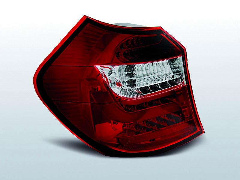 Zadné svetlá diódové, BMW E87/E81, 2004-2007, ČERVENÁ BIELY LED BAR