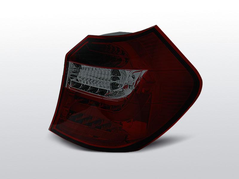 Zadné svetlá diódové, BMW E87/E81, 2004-2007, ČERVENÁ SMOKE LED BAR