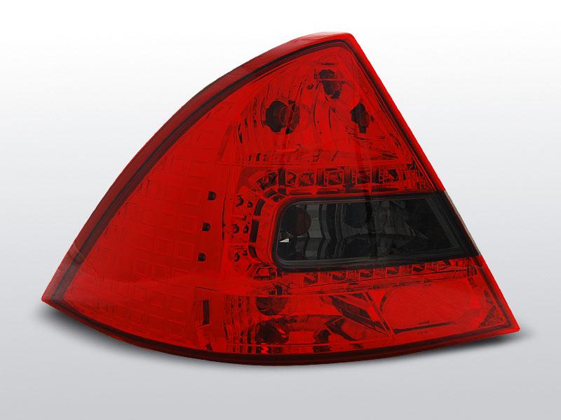 Zadné svetlá diódové, FORD MONDEO MK3, 2000-2007, ČERVENÁ SMOKE LED