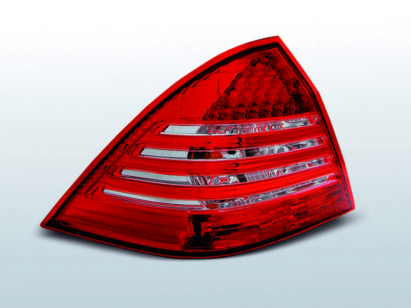 Zadné svetlá diódové, MERCEDES C-KLASSE W203 SEDAN, 2000-2004, ČERVENÁ BIELY LED