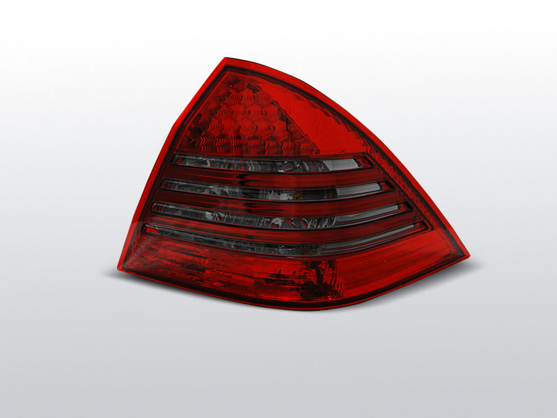 Zadné svetlá diódové, MERCEDES C-KLASSE W203 SEDAN, 2000-2004, ČERVENÁ SMOKE LED