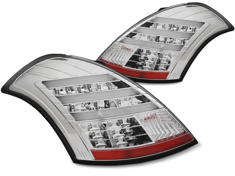 Zadné svetlá diódové, SUZUKI SWIFT V, 2010-, CHROM LED