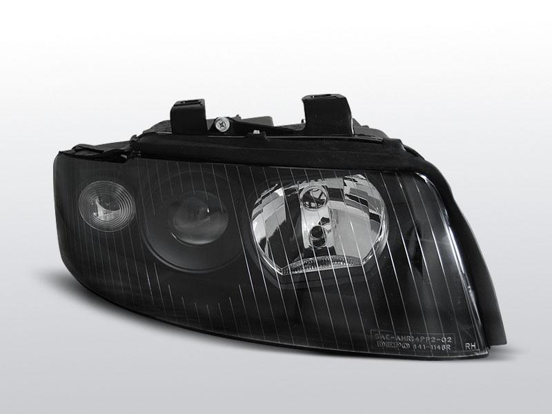 Predné svetlá, AUDI A4 B6, 2000-2004, ČIERNA
