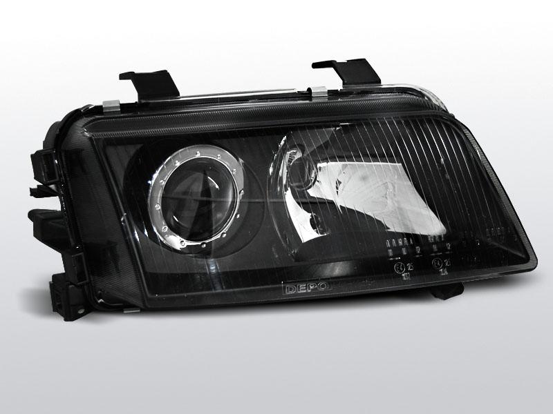 Predné svetlá, AUDI A4, 1994-1998, ČIERNA
