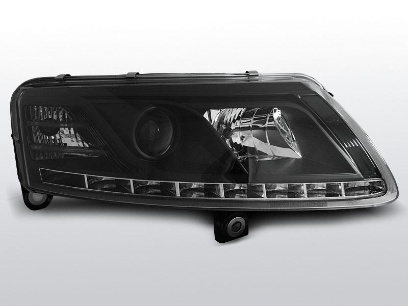 Predné svetlá, AUDI A6 C6, 2004-2008, TRU DRL XENON D2S ČIERNA