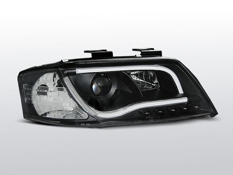 Predné svetlá, AUDI A6, 1997-2001, LED TUBE LIGHTS ČIERNA