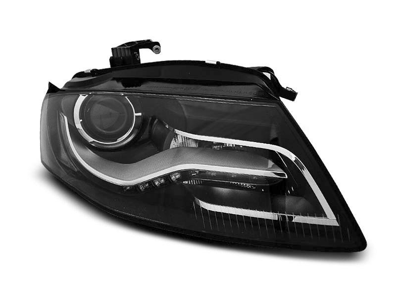Predné svetlá, AUDI A4 B8, 2008-2011, TRU DRL BLACK