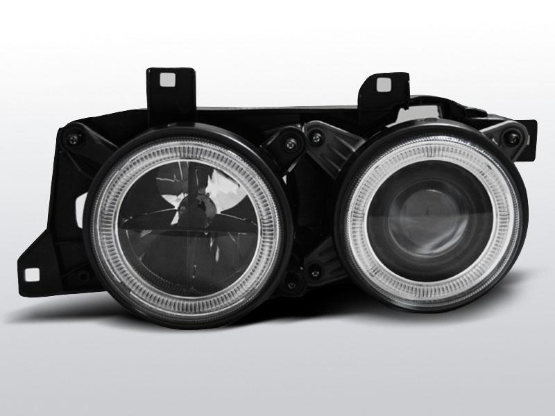 Predné svetlá, BMW E32/E34 ANGEL EYES BLACK