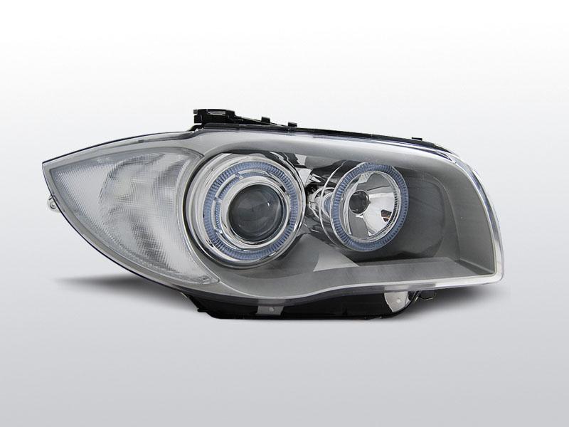Predné svetlá, BMW 1 E87/E81, 2004-2007, CHROM