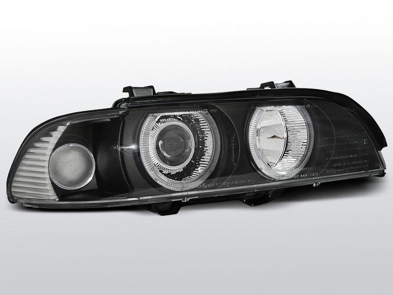 Predné svetlá, BMW E39, 1995-2003, ANGEL EYES H7/H7 ČIERNA