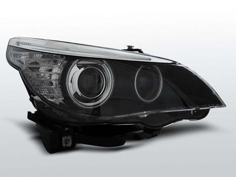 Predné svetlá, BMW E60/E61, 2003-2004, CCFL HID D2S DUAL PROJECTOR ČIERNA
