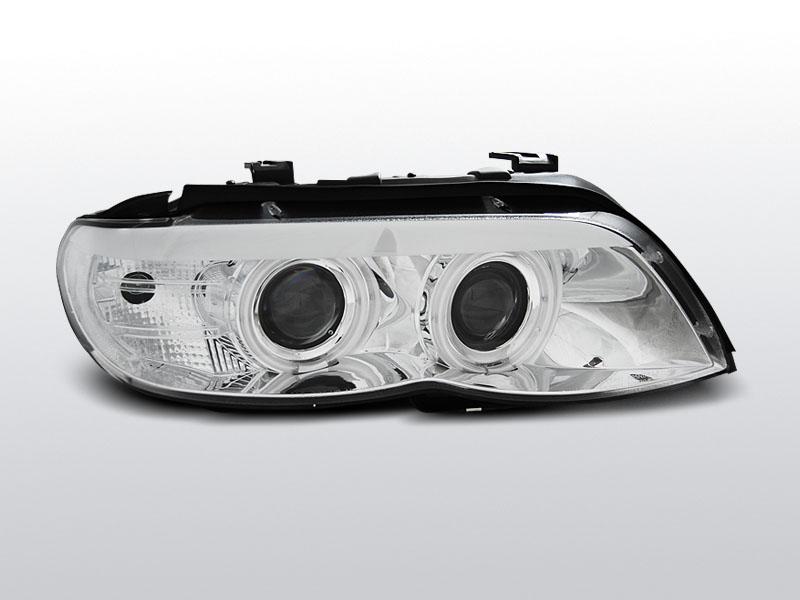 Predné svetlá, BMW X5 E53, 2003-2006, CHROM CCFL XENON
