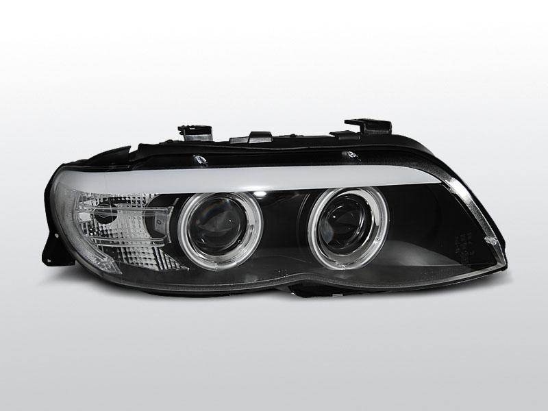Predné svetlá, BMW X5 E53, 2003-2006, ČIERNA CCFL XENON