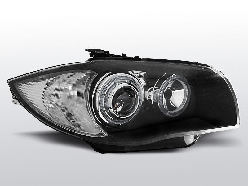 Predné svetlá, BMW 1 E87/E81, 2004-2007, ČIERNA