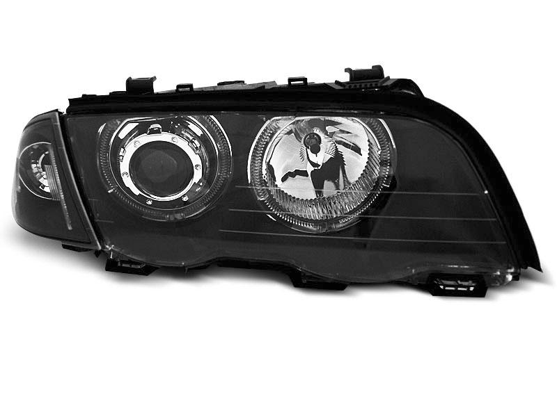 Predné svetlá, BMW 3, E46, 1998-2001, S/T ANGEL EYES LED BLACK