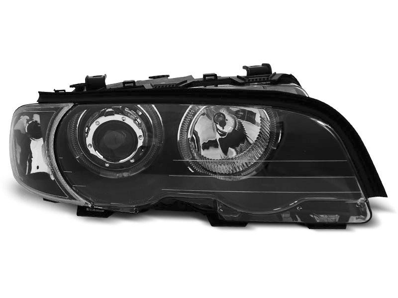 Predné svetlá, BMW 3, E46, 1999-2003, COUPE/CABRIO, ANGEL EYES LED BLACK