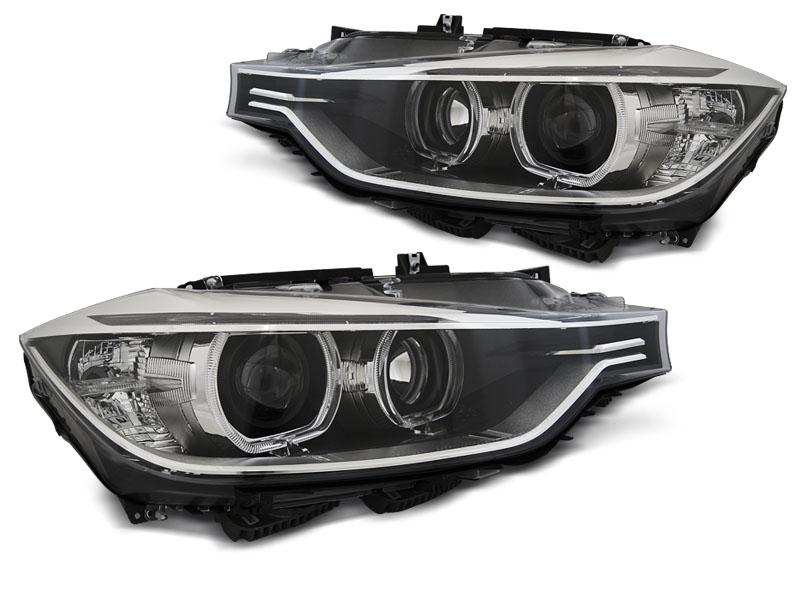 Predné svetlá, BMW 3 F30/F31, 2011-2015, ANGEL EYES LED BLACK
