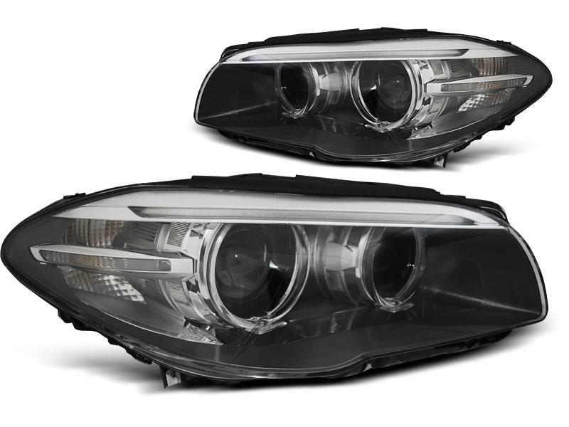 Predné svetlá, BMW 5 F10/F11, 2010-2013, AE LED BLACK DRL