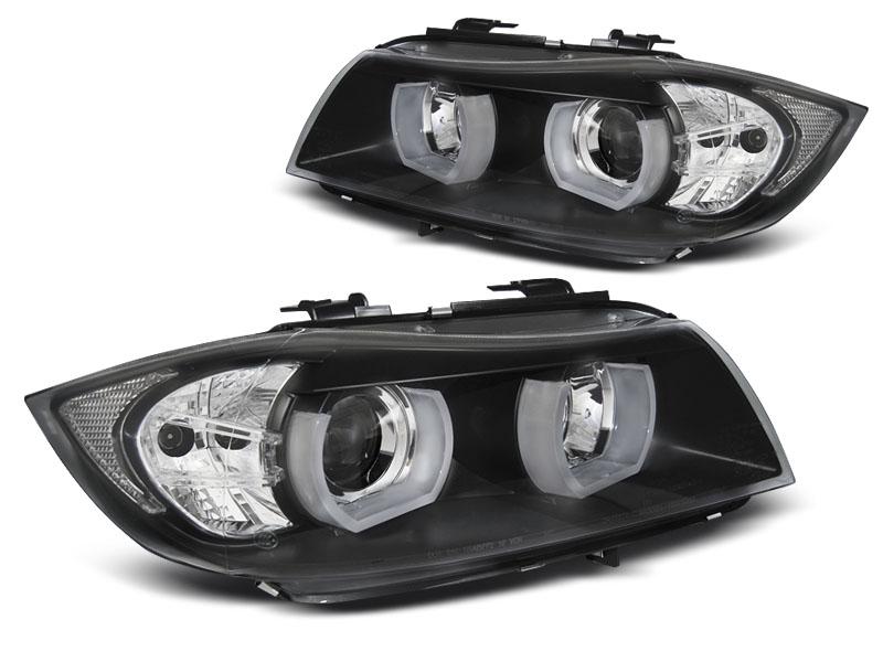 Predné svetlá, BMW 3 E90/E91, 2005-2008, 3D U-TYPE BLACK HID