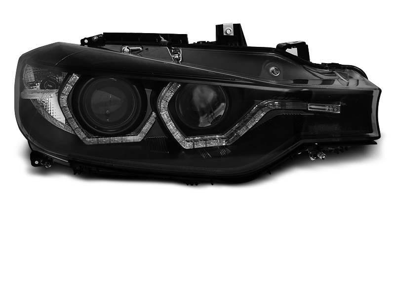 Predné svetlá, BMW 3 F30/F31, 2011-2015, ANGEL EYES LED BLACK DRL