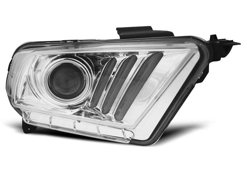 Predné svetlá, FORD MUSTANG V, 2010-2013, TUBE LIGHT CHROME